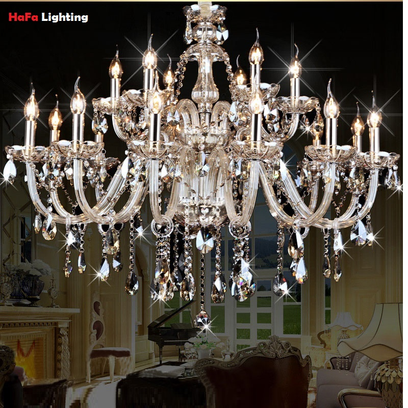Luxury Crystal chandelier Living Room lustre sala de cristal modern Chandelier lighting bedroom crystal font b