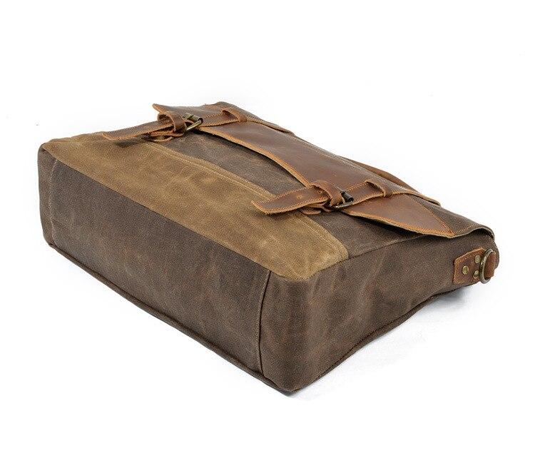"""HTB1hbnGSrvpK1RjSZPiq6zmwXXaZ M275 Mens Messenger Bag Waterproof Canvas Leather Men Vintage Handbags Large Satchel Shoulder Bags 14"""" Computer Laptop Briefcase"""