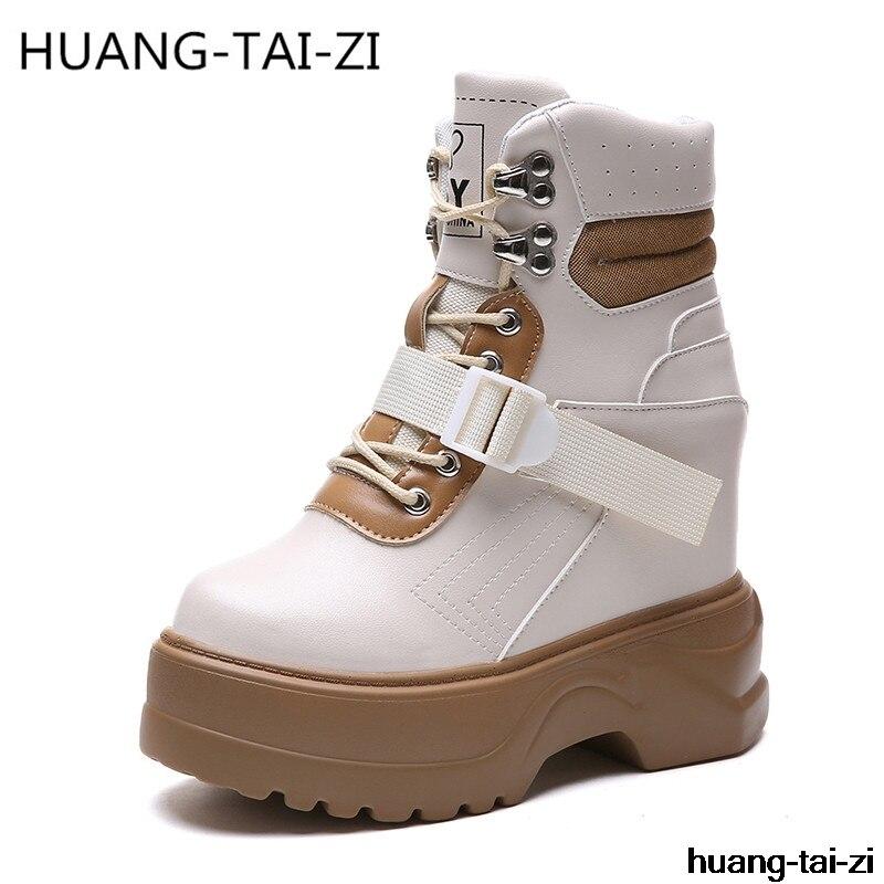 Boucle Augmenter Chaussures Plate À Coins Automne Hauts Cm Nouveau Beige Hauteur noir Ascenseur Talons 11 Mode Hiver Sneakers forme Pour Femmes 8P6x4Eqw