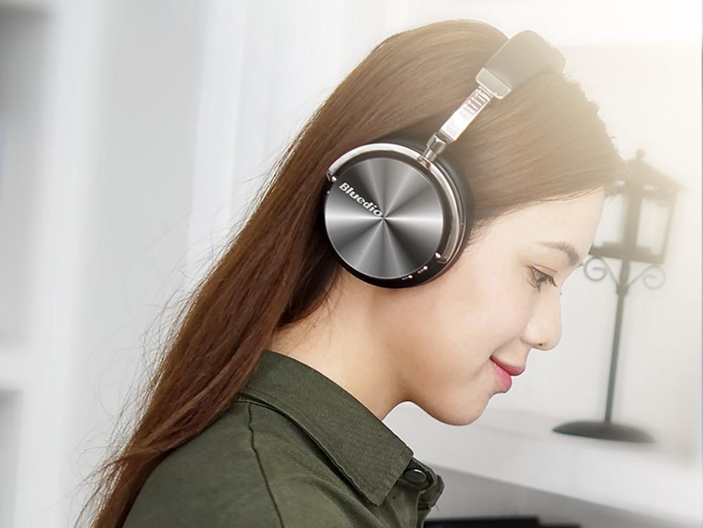 T4 bluedio aktywny hałasu anulowanie słuchawki bezprzewodowe bluetooth bezprzewodowy zestaw słuchawkowy z mikrofonem 5