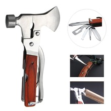 Multifunctional Hatchet Hammer Pliers Knife Screwdriver Outdoor Camping Emergency Survival Tools Stainless Steel Tools All in 1