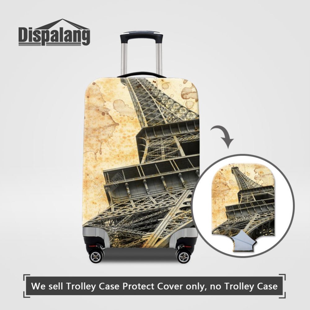 Dispalang Eiffel Tower Print Luggage Covers For 18-30 Inch Suitcases Protective Covers Travel Accessories Dust-proof Case Covers