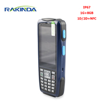 RAKINDA S3 Logistics Warehouse Android 5.1/7.0 Handheld PDA 1D Laser or 2D Barcode Scanner Terminal with NFC Wifi GPS 1G/8GB