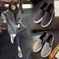 2016 spring women's shoes platform shoes lazy female canvas shoes skateboarding shoes