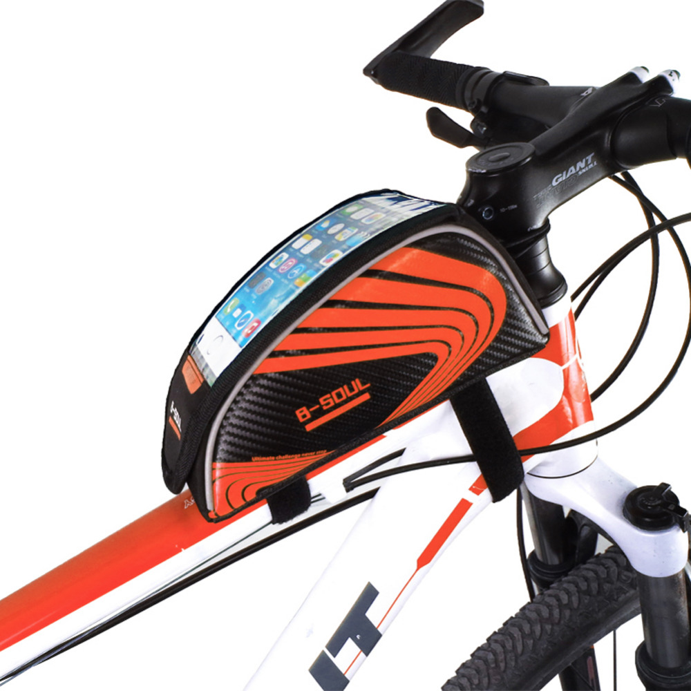 5.5 inch B-SOUL Outdoor Sport Touch Screen Phone Bag Bike Front Frame Bag MTB Mountain Bicycle Saddle bag