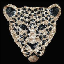Блестки патч голова леопарда DIY одежда патчи для одежды Пришивные вышитые патч бисерный мотив аппликация дело с этим ремесла