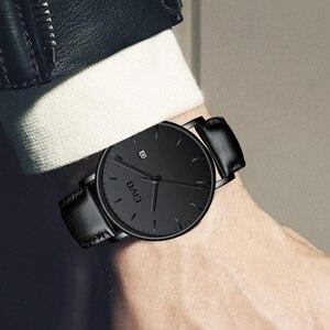 Image 5 - Модные повседневные мужские часы CIVO, ультратонкие минималистичные водонепроницаемые кварцевые наручные часы с датой для мужчин, черные часы из натуральной кожи