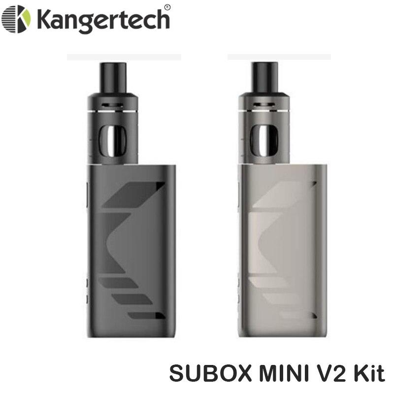 Original Kanger SUBOX MINI V2 Kit 50 W Mod Vape avec sous-réservoir MINI 2.0 atomiseur Fit NCOCC 0.8Ohm bobine Kangertech E Cigarette Vape