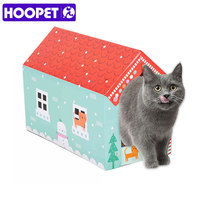 HOOPET Pet Cat Scratching Board Corrugated Paper Cat House Grinding Claws Device Cat Box