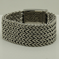super 3.4cm wide & 174g heavy woven chain  316L stainless steel   chain bracelet men jewelry bracelet