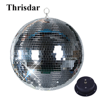 Thrisdar Dia15CM 20CM 25CM Reflective Glass Mirror Disco Ball With Rotation Motor Disco DJ KTV Bars Home Party Stage Light