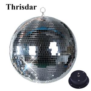 Image 1 - Thrisdar Dia15CM 20CM 25CM reflectante de vidrio Bola de espejo para discoteca con rotación Motor Disco DJ KTV bares fiesta en casa de luz de la etapa