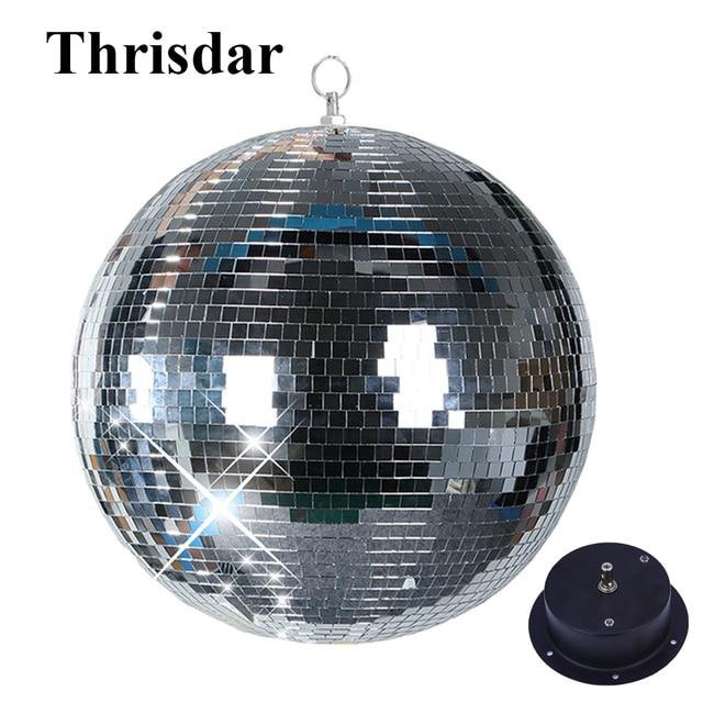 Thrisdar Dia15CM 20CM 25CM reflectante de vidrio Bola de espejo para discoteca con rotación Motor Disco DJ KTV bares fiesta en casa de luz de la etapa