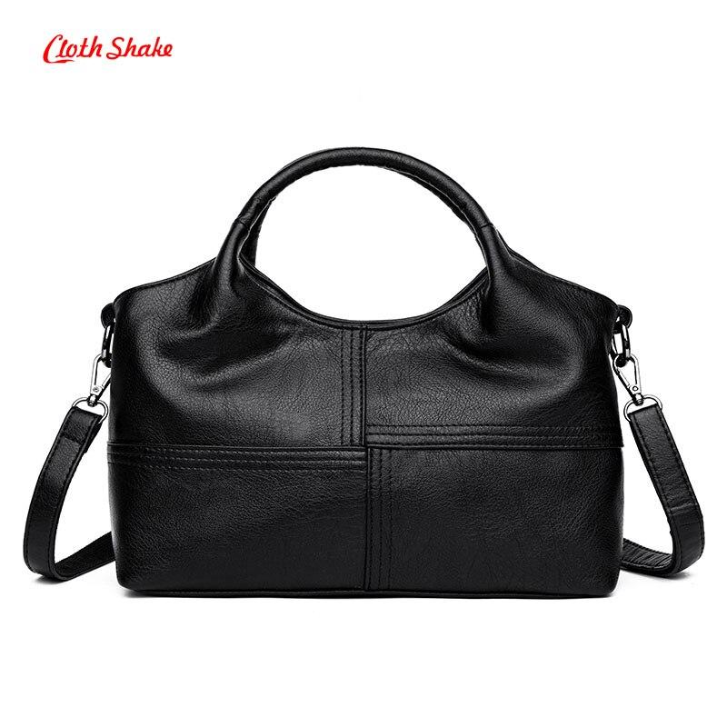Stitching Design Women Handbags Casual All-Match Large Capacity Shoulder Bag Ladies Big Bag PU Leather Daily Shopping Handbag