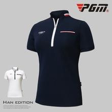 Новинка года PGM Женская футболка для гольфа одежда для гольфа женские топы с короткими рукавами летняя футболка дышащая удобная футболка