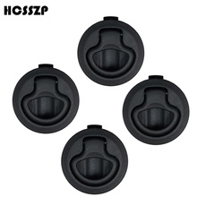 HCSSZP 4 Pcs 2 Flush Boat Marine Latch Black nylon NO Key Pull Latches Slam lift handle Deck Hatch Hardware