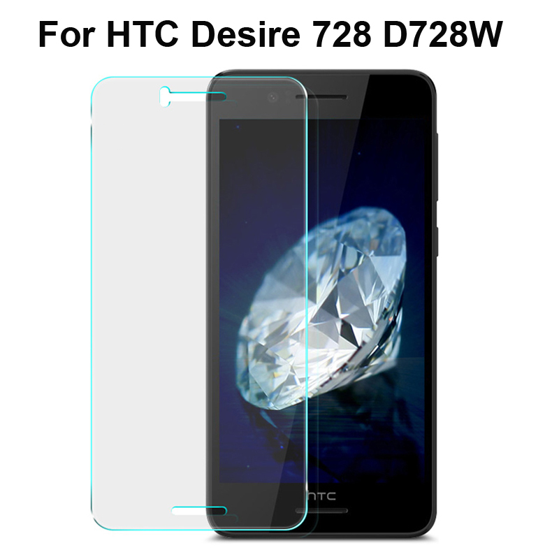 0.3mm 9H tempered glass For HTC Desire 728/Dual SIM 728W 728G screen protector protective glass with free clean kits
