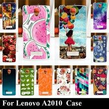 Para Lenovo A2010 Plástico Rígido Caso Tampa Do Telefone Móvel DIY Cor Paitn Saco Celular Shell Frete Grátis
