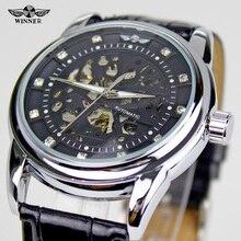 Nuevo 2016 Mens Relojes Mecánicos Ganador Forsining Reloj Automático de Lujo Del Diseño Del Diamante Viento Antiguo Hombre Vestido de Pulsera