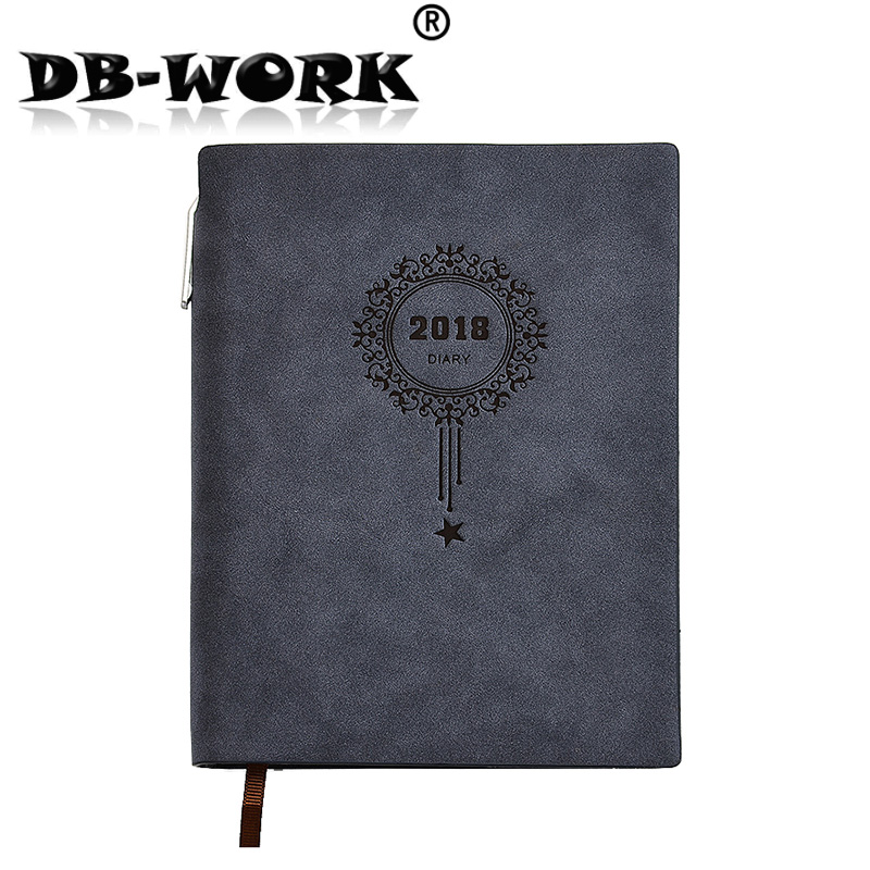2018 Business leather notebook The schedule of the work efficiency manual is the manual notebook to customize the LOGO. the complete bike owners manual