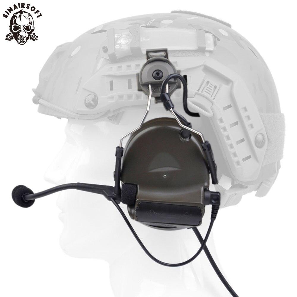 Headset Para Capacete RÁPIDO E Adaptador Rail Helmet conjunto