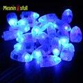 50 pçs/lote Led Azul Lâmpadas Mini Luzes da Lanterna De Papel de Balão Balões da Festa de Aniversário de Casamento deco Hallloween mariage