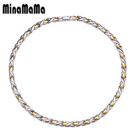 New Fashion Stainless Steel Magnetic Necklaces For Women Men Power Magnetic Chain Necklace Energy Jewelry