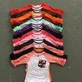Frete grátis meninas roupas o-pescoço do bebê meninas miúdos confeiteiro irritar raglan tops camisas meninas casual tops queda do Outono T-shirt top