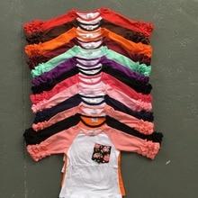 Бесплатная доставка девушки одежда о-образным вырезом детские девушки дети обледенения рябить реглан топы рубашки девушки повседневная топы осень Осень топ Футболка