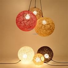 Nordic Grass Rattan Hemp Ball Pendant Lamp Restaurant Creative Decor Lights Modern Home Lighting Light Fixture lustre