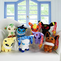 8Pcs/Lot 5'' Umbreon Eevee Espeon Jolteon Vaporeon Flareon Glaceon Leafeon Soft Stuffed Plush Toys Doll