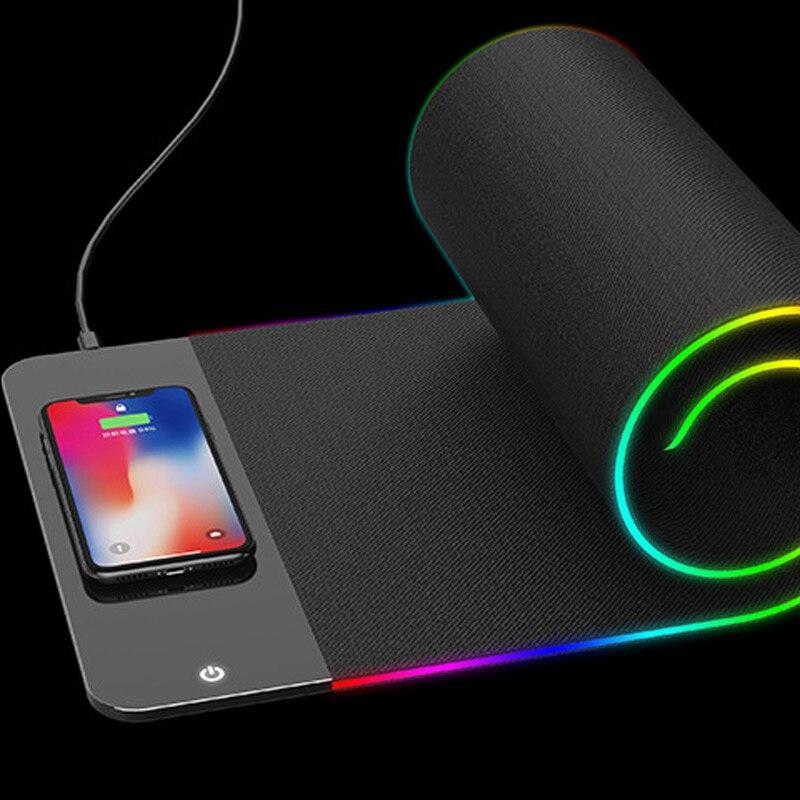 Tapis de souris 2 en 1 chargeur sans fil tapis de souris lumineux chargeur rapide pour bureau Gamer GDeals