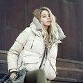 Мода Пуховик Женщины Зимнее Пальто 2016 новая Мода Толстая Леди белая Утка Вниз Одежды С Капюшоном Теплый thicking пальто 3 цвет