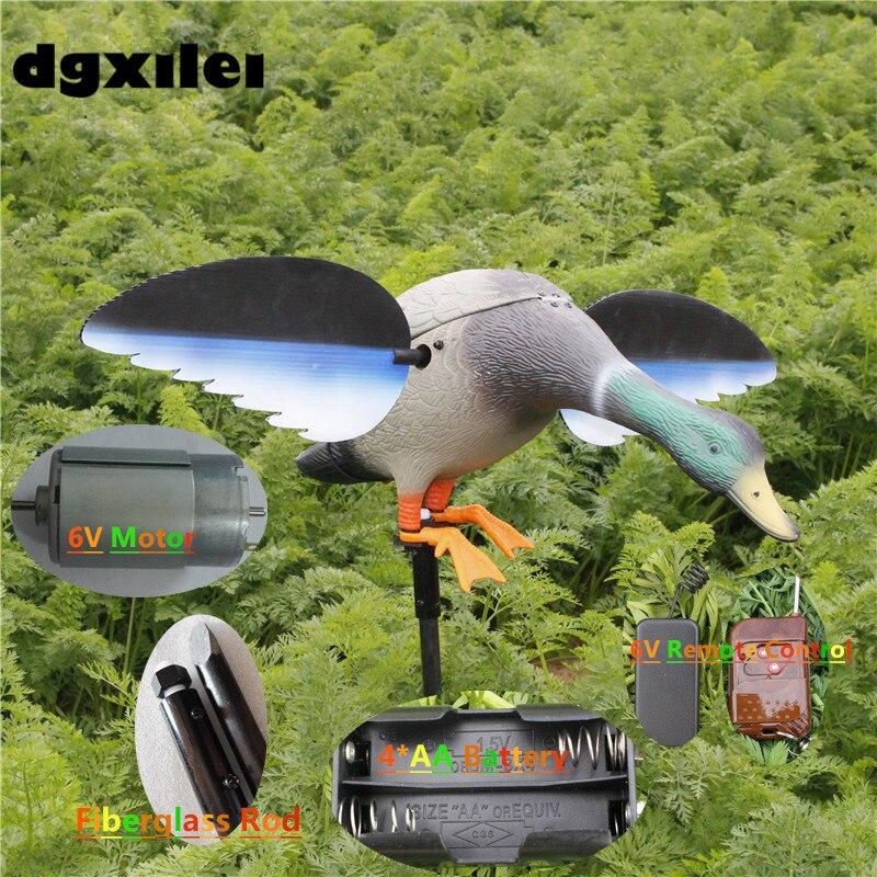 2017 Xilei Outdoor Ducks Decoy Plastic Garden Decoration Ornaments Hunt Ducks Animal Bait Shooting Equipment With Spinning Wings