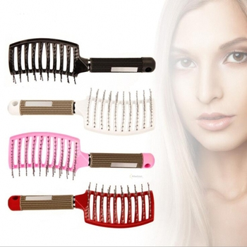 1pc Antistatic Heat Curved hair brushes Vent Combs for hair extension escova de cabelo Detangling Hairdressing Styling tools