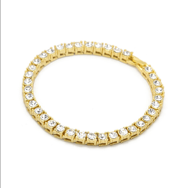 Super Luxury Dazzling Paved Tennis Bracelet,Stainless Steel Four Prong with Round Zircons,Fashion Chain Bracelet For Women