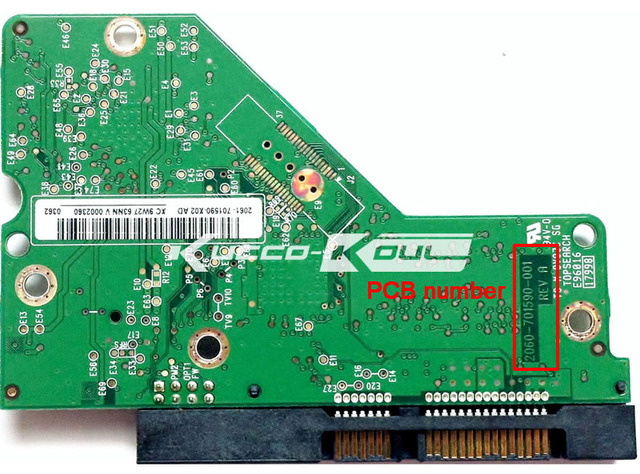 HDD PCB logic board 2060-701590-001 REV A for WD 3.5 SATA hard drive repair data recovery