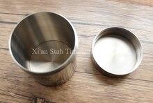 Titanium TC4 Tea Caddy Canister Seal Storage 420g/pc Beutiful Mirror Burnishing Surface