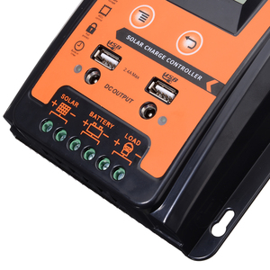 Image 5 - 12V/24V 30A Durable Solar Charge Controller Dual USB LCD Display Solar Panel Battery Regulator PWM Solar Controller