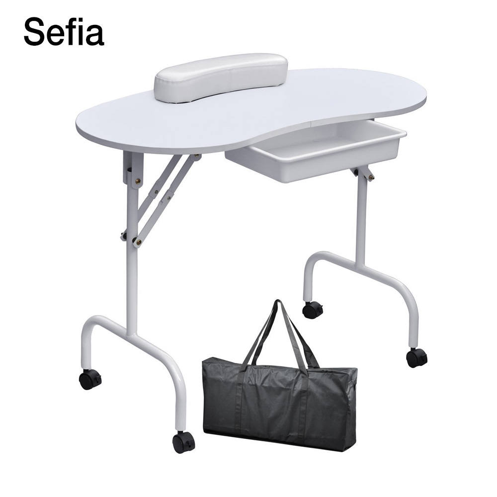 Sefia brand foldable portable nail table manicure for Nail salon equipment and furniture