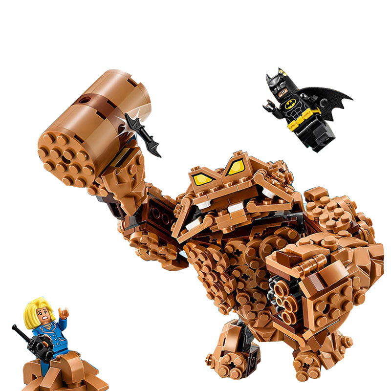 LEPIN Batman Series Clayface Splat Attack Building Blocks Bricks Movie Model Kids Toys Marvel Compatible Legoe