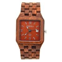Bewell Nieuwste Hout Horloge voor Mannen Datum Display Quartz Horloges Twee tone Houten Hout Strap Japanse beweging Drop Verzending 111A