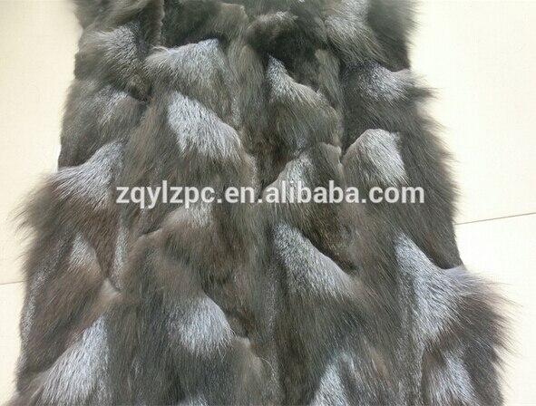 En gros prix le plus bas argent couverture de fourrure de renard/peau de fourrure