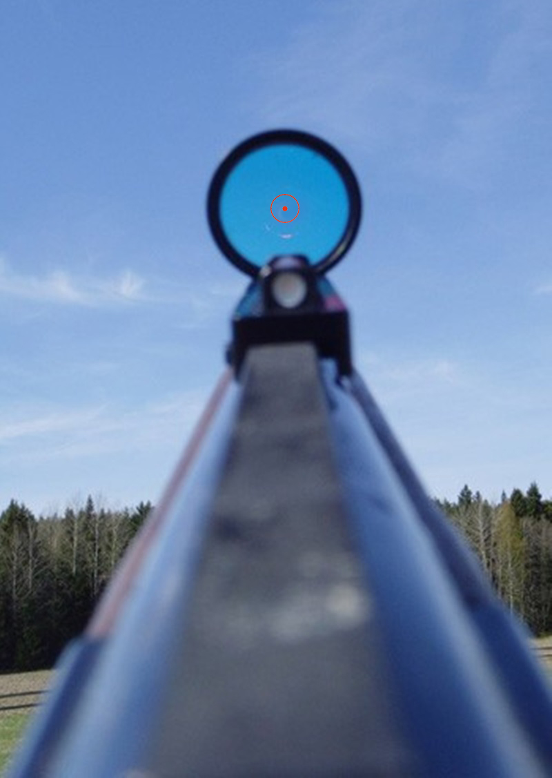 Image 5 - New Lightweight Red and Green Fiber 1x28 Red Dot Sight Hunting Scope Fit Shotguns Rib Rail Hunting Shooting-in Riflescopes from Sports & Entertainment