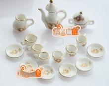 Cute MINI Dollhouse Miniature Food accessories dollhouse Tea set