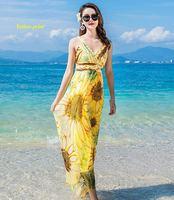 New arrival pure silk V neck sleeveless Bohemian summer dress,100% silk spaghetti strap backless big bottom long dresses women