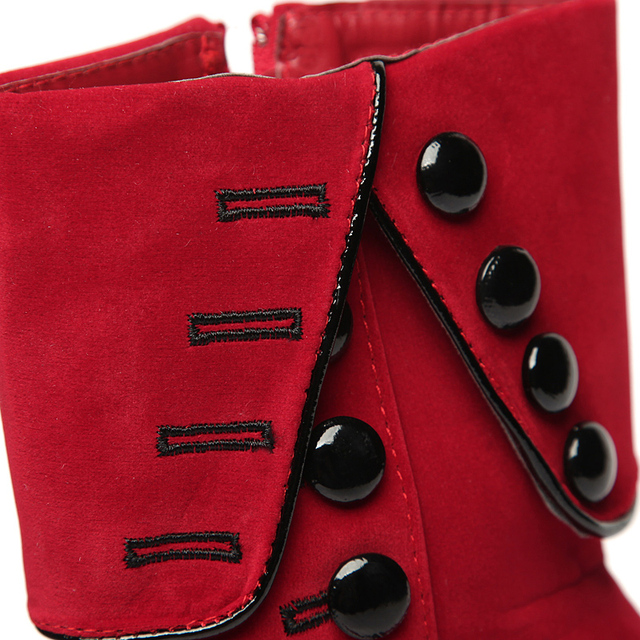 2017 Fashion Women Ankle Boots High Heels Red