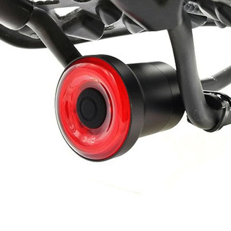 Usb bicicleta luz linterna inteligente Sensor de freno luces traseras MTB Carretera ciclo trasera Led bicicleta luces traseras