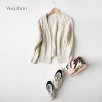 Yeeshan Twisted Cardigans Women Long Sleeve Women S Sweaters Luxury Brand Casual Cashmere Cardigans Women