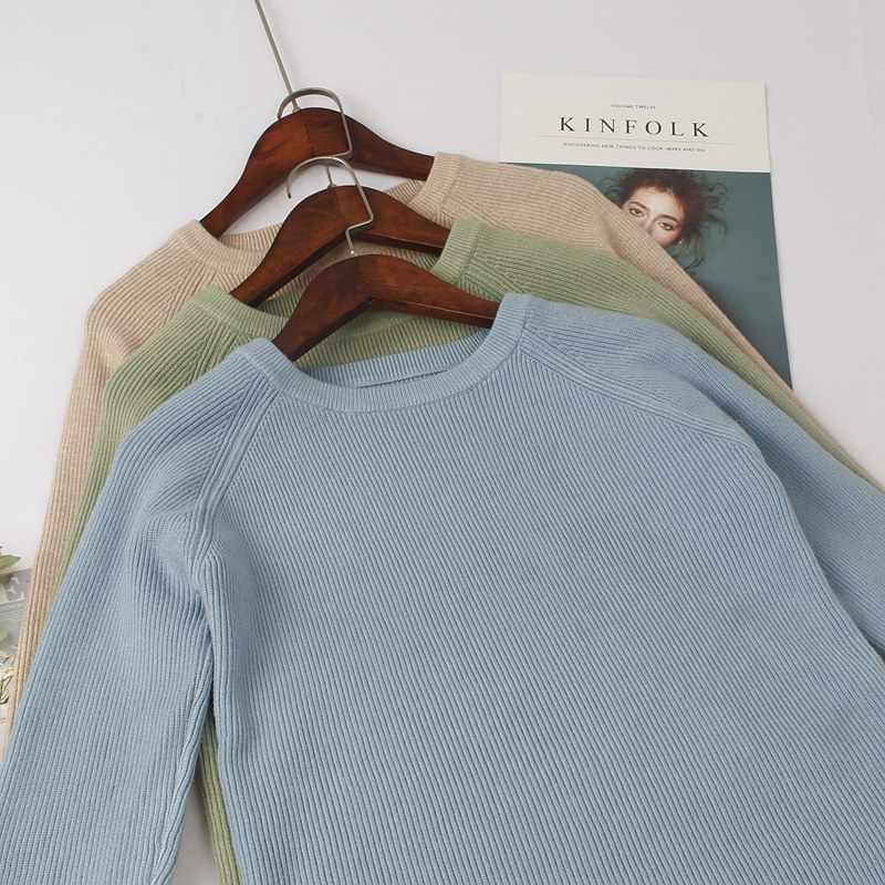 GIGOGOU, jersey básico de punto grueso de alta calidad para otoño e invierno, Jersey cálido para mujer, jersey de manga larga suave para mujer